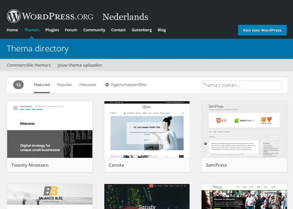WordPress Thema Directory