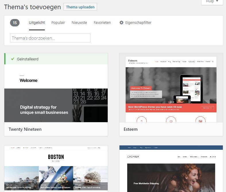 WordPress Thema Toevoegen